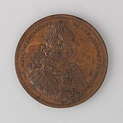 Medal Showing the Coronation of Peter II at Moscow