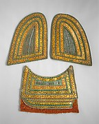 Pair of Neck Defenses (Crinet) and Breast Defense (Peytral) from a Horse Armor