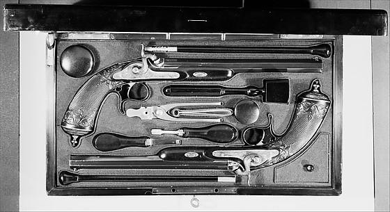 Cased Pair of Percussion Pistols