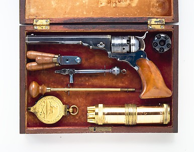 Colt Paterson Percussion Revolver, No. 3, Belt Model, serial no. 156, with Case and Accessories