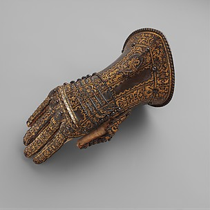 Gauntlet for the Right Hand, Belonging to the Armor of Don Alonzo Pérez de Guzman el Bueno (1550–1619), Count of Niebla and Duke of Medina-Sidonia