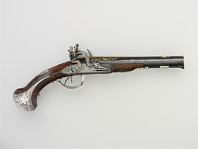 Pair of Double-Barreled Flintlock Pistols