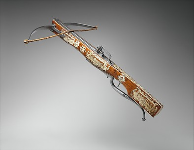 Pellet Crossbow Combined with Wheellock Pistol