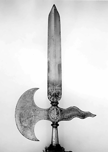 Halberd of the Swiss Guard of Johann Georg II (reigned 1656–80)