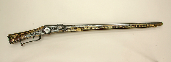 Gun, Hunting, Combination wheellock-matchlock