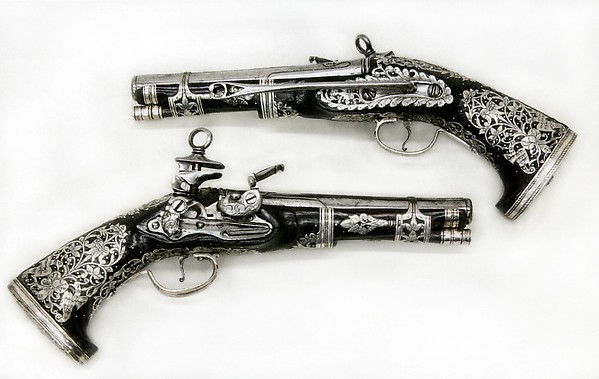 Pair of Miquelet Flintlock Pistols