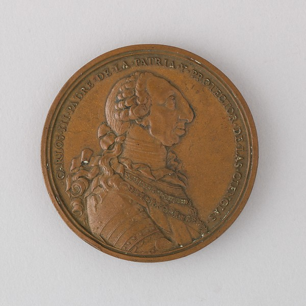 Medal Showing Charles III of Spain, 1778