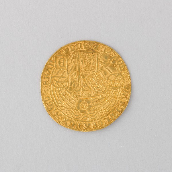 Coin of Noble, Rose, Showing Edward IV