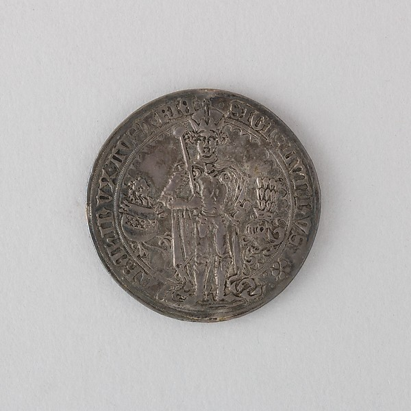 Coin (Thaler) Showing Archduke Sigismund