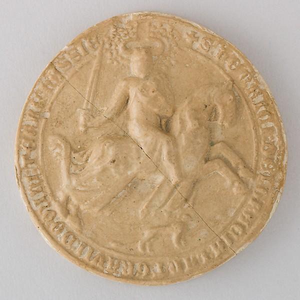 Reproduction of the Seal of Landgraf Heinr. II der Eiserne von Hessen, 1338