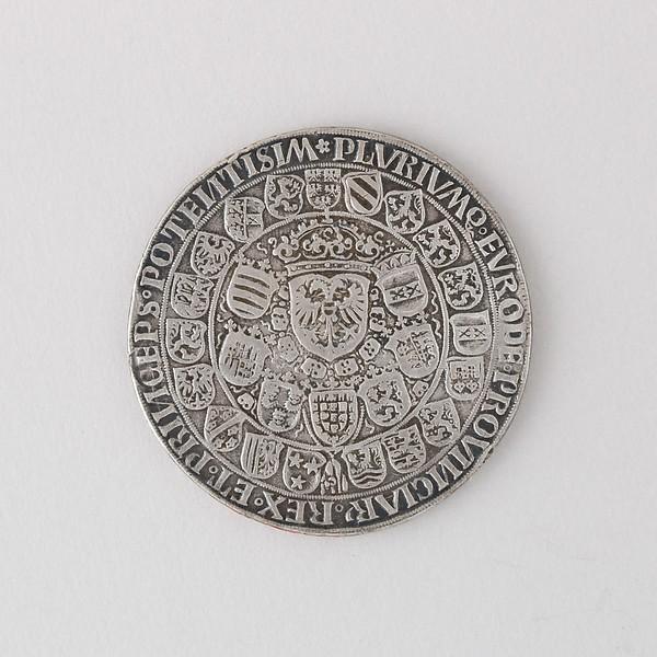 Coin (Thaler, Doppel) Showing Maximilian I on Horseback