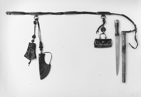 Dagger with Sheath, Belt, and Accessories