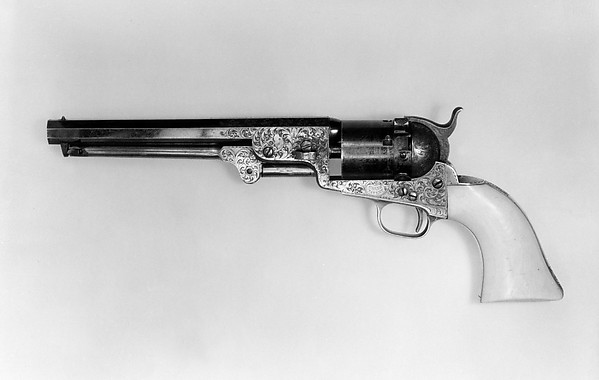 Colt Model 1851 Navy Revolver with Thuer Conversion for Self-Contained Cartridges, Serial no. 27060
