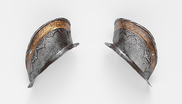 Two Ear Guards from a Shaffron of Emperor Charles V