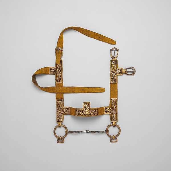 Bridle, breast collar, crupper, and stirrups