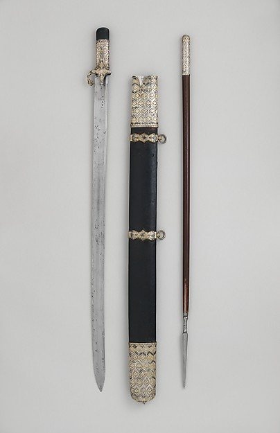 Saber and Dart with Scabbard