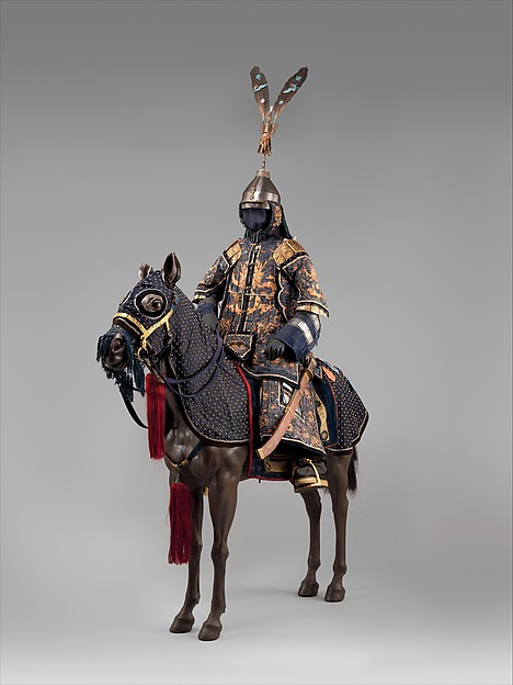 Ceremonial Armors for Man (Dingjia) and Horse