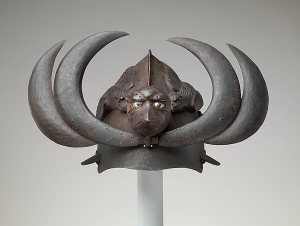 Exotic Helmet with Tengu Mask and Crows