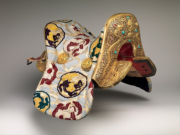 Saddle (Gser Sga) Made for Yuthok Tashi Dundrup (g.yu thog bkra shis don grub, 1906–1983)