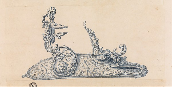 Drawing from an Ornament Scrapbook: A Flintlock Gun Lock