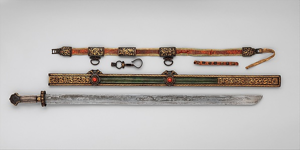 Sword, Scabbard, and Belt Hook