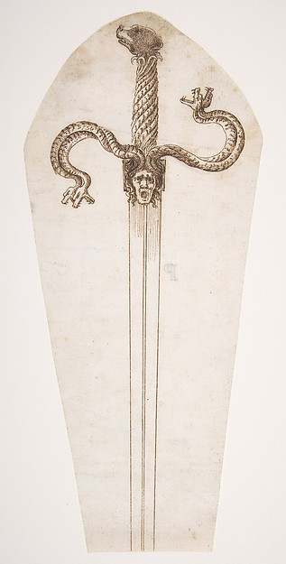 Drawing of a Sword Hilt