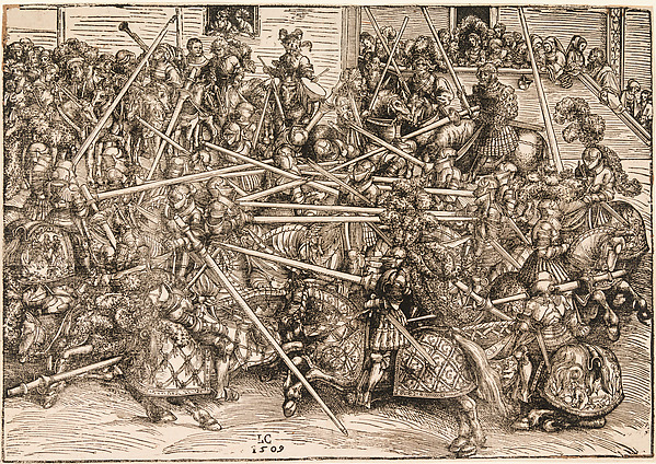 Fascinating Historical Picture of Elder with The Tournament with Lances in 1509
