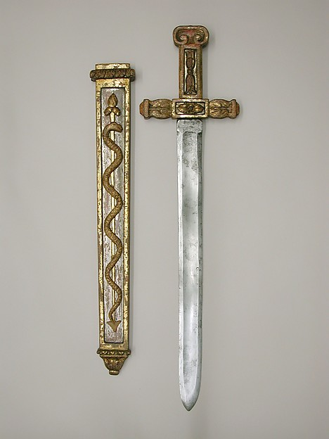 Costume Sword with Scabbard in the Classical Style