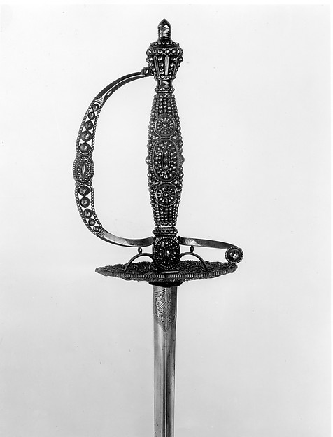 Smallsword, known as a Mourning Sword