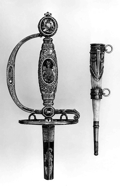 Smallsword Hilt and Scabbard Mounts