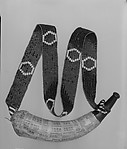 Powder Horn and Wampum Shoulder Belt