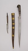 Knife with Sheath and Small Knife