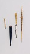 Knife (Piha Kaetta) with Stylus, Pricker, and Sheath