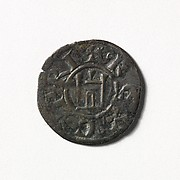 Coin (Denier) of Henry I of Cyprus (1218–1253)