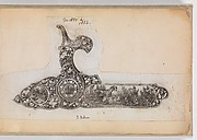 Album of Firearms Ornament Containing Approximately Five Hundred and Forty Inked Impressions of Engraved Firearms Locks and Mounts, and Forty-Two Original Pen and Ink Designs on Forty Double-Sided Leaves