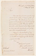 Letter from Henry Knox (1750–1806), Secretary of War, to Colonel Marinus Willet (1740–1830)