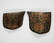 "Pair of Tassets (Thigh Defenses) Belonging to an Armor for Field and Tournament Made for Duke Nikolaus ""The Black"" Radziwill (1515–1565), Duke of Nesvizh and Olyka, Prince of the Empire, Grand Chancellor and Marshal of Lithuania"