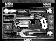 "Cased Six-Barreled Revolving Percussion Pistol (""Pepperbox"")"