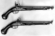 Pair of Pistols with Flintlocks a la moda