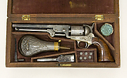 Model 1851 Colt Navy Percussion Revolver, Serial Number 29705, with Case and Accessories