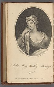 Frontispiece from The Works of the Right Honourable Lady Mary Wortley Montagu
