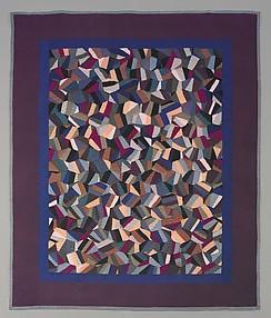 Quilt, Tumblers Crazy pattern