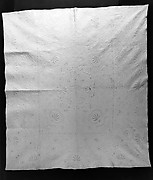 Embroidered and stuffed whitework quilt