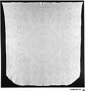 Embroidered whitework coverlet