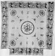 Chintz appliquéd quilt