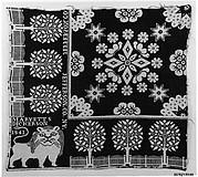 Woven coverlet fragment