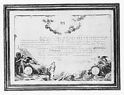 Membership Certificate of the Society of the Cincinnati