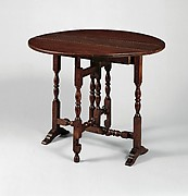 Oval table with falling leaves
