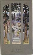 Design for window for Sarah Cochran, Linden Hall, Dawson, Pennsylvania