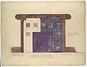 Design for mosaic mantel facing in residence of Mrs. Louis G. Kaufman, Short Hills, NJ
